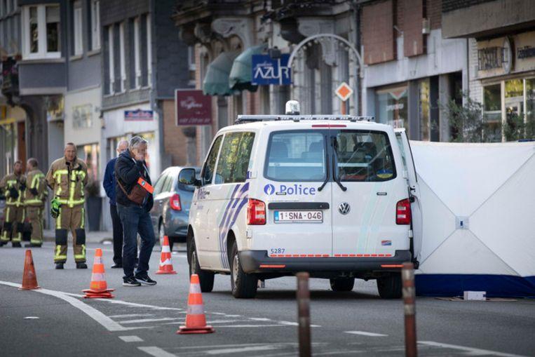 De plaats delict in de Avenue Reine Astrid in Spa.