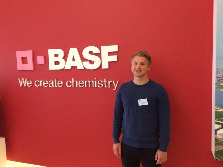 Matthew Van Dyck voelt zich nu al een beetje BASF-medewerker.