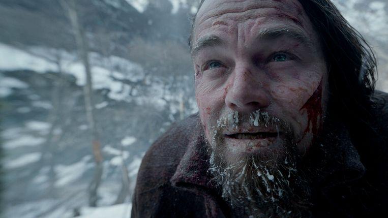 Leonardo DiCaprio in The Revenant van Alejandro González Iñárritu Beeld
