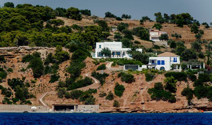 Het vakantiehuis van de Nederlandse koning Willem-Alexander in Griekenland.