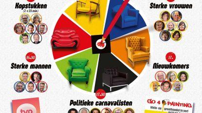 Politieke carnavalisten debatteren in carnavalskantine