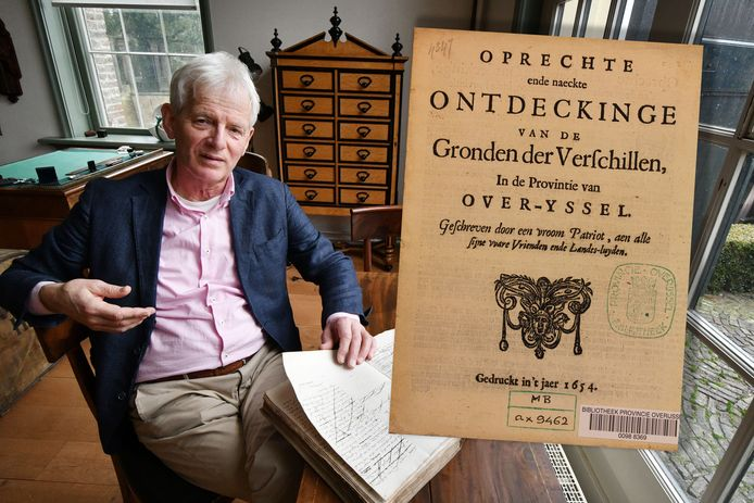 Jan Haverkate promoveerde vorig jaar op zijn onderzoek naar de pamfletoorlog in Overijssel in de Gouden Eeuw. Onlangs verscheen zijn onderzoek in boekvorm onder de titel 'Spindoctors van de Gouden Eeuw'.