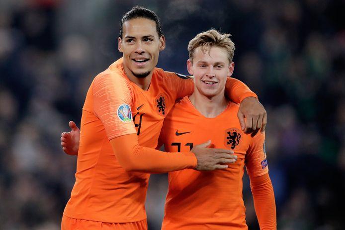 Virgil van Dijk en Frenkie de Jong.