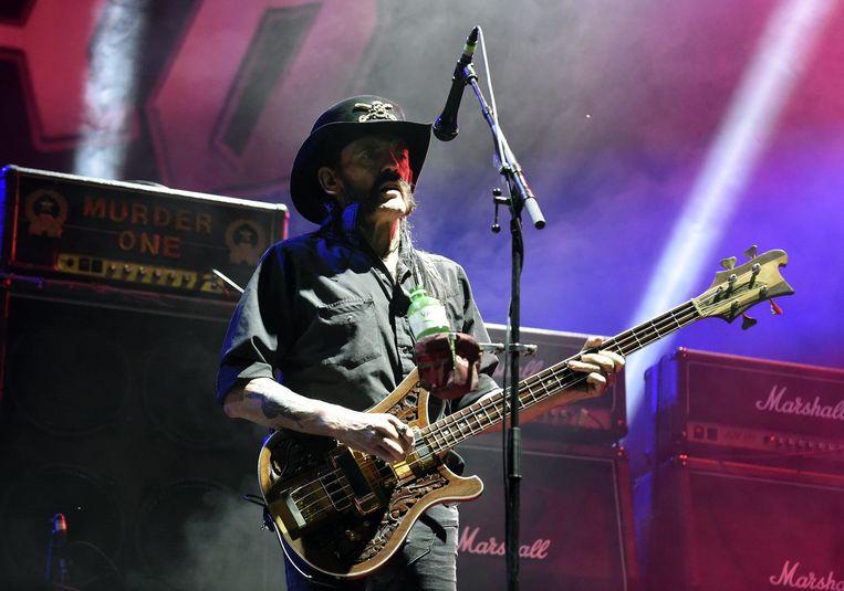 Lemmy Kilmister (Motörhead) op het Oostenrijkse festival Nova Rock.