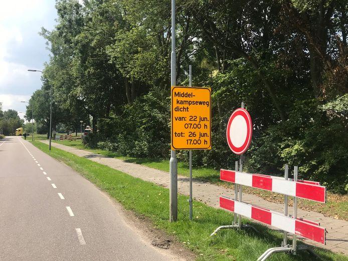 De Middelkampseweg in Gameren.
