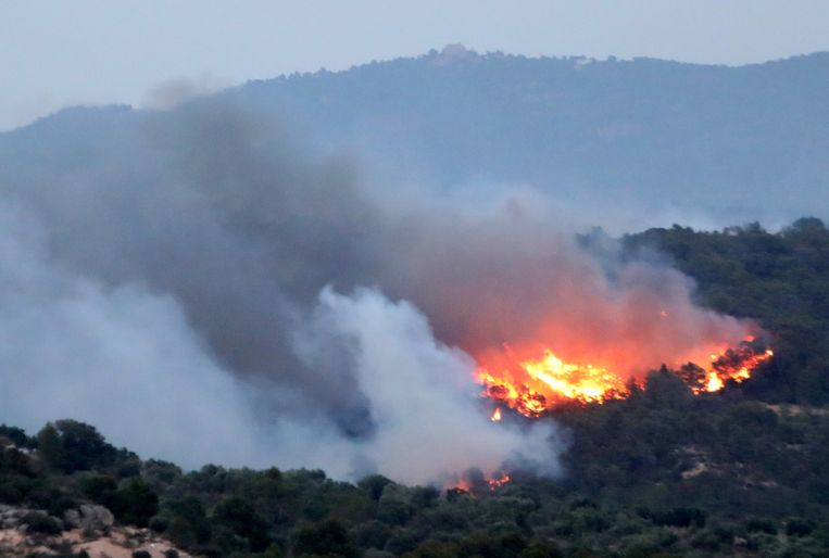 Bosbranden teisteren Ribera d'Ebre in de provincie Tarragona.