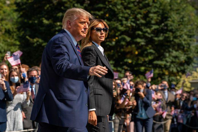 Trump en de first lady eerder deze week.