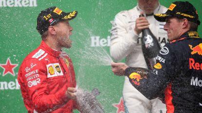 Vettel leider en winnaar van saaie race