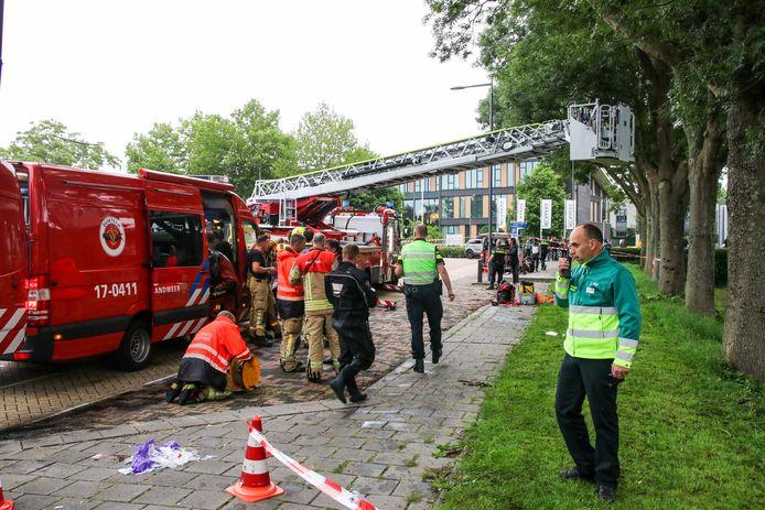 De brandweer rukte uit met een duikteam.