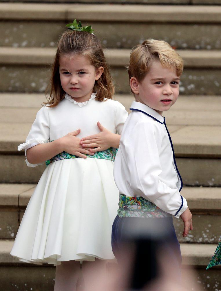 Prins George en prinses Charlotte zijn bruidskinderen van dienst.