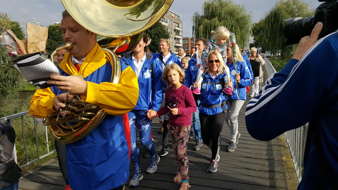 De Walk to Fight Cancer werd muzikaal bijgestaan.
