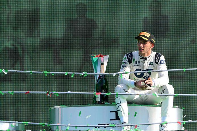 Pierre Gasly na zijn overwinning op Monza.
