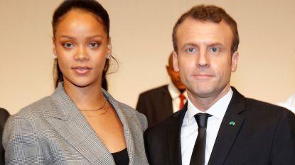 Rihanna en president Macron strijden samen voor scholing