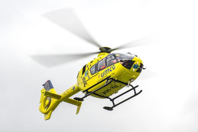 Een inzet van een traumahelikopter.