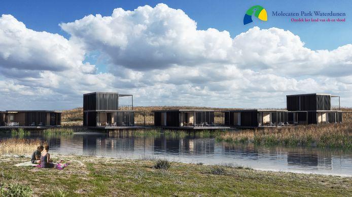Een impressie van het toekomstige Park Waterdunen.