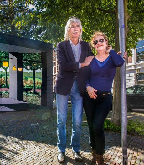 Haagse kunstenaar tovert grauw transformatorhuisje om in een zomers prieeltje