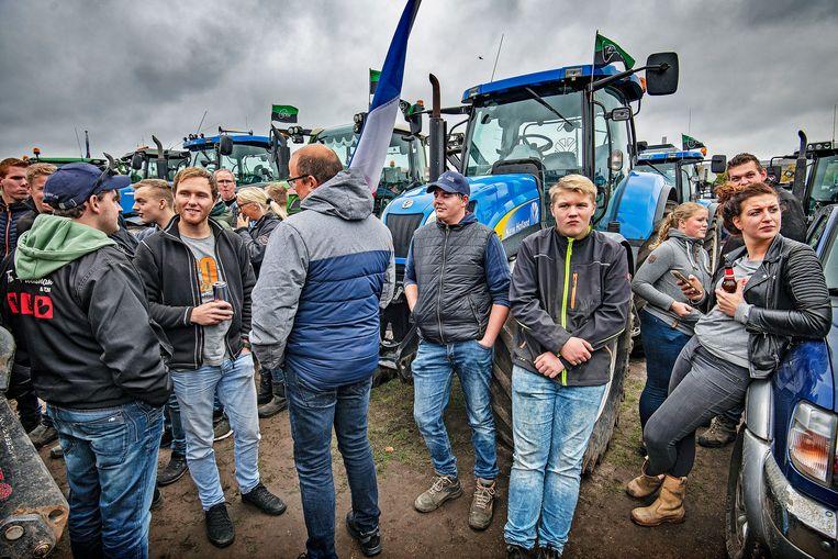 Boerenprotest op Haagse Malieveld tegen stikstofplannen van het kabinet. Beeld Guus Dubbelman / de Volkskrant