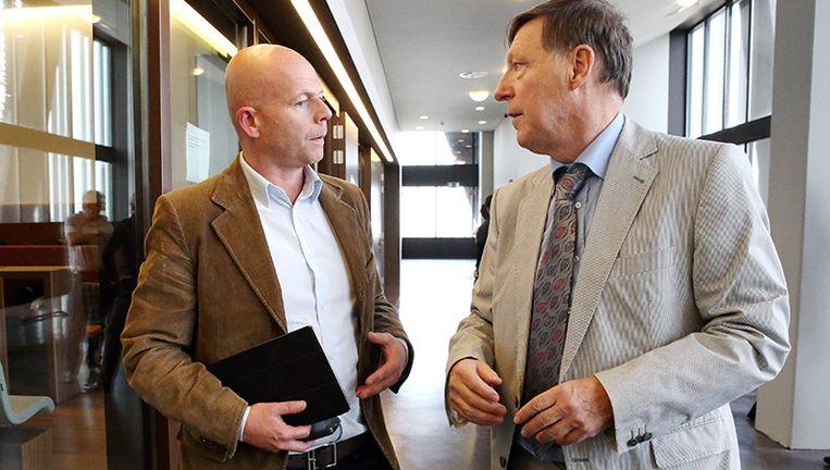 Sven Mary en Jef Vermassen tijdens het proces tegen leden van de familie Aquino.