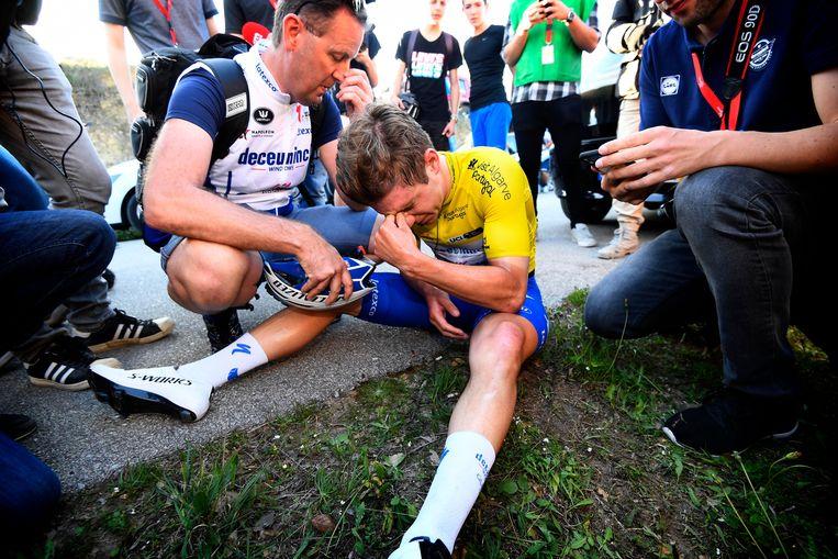 Remco Evenepoel ging diep in de Ronde van de Algarve
