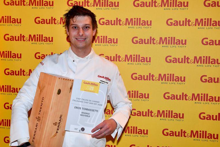 Eros Tomassetti mocht maandagnamiddag zijn prijs in ontvangst nemen op de uitreiking in Lint.