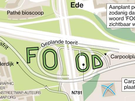 Populieren bij afslag Wageningen aan de A12 promoten Ede als food-stad