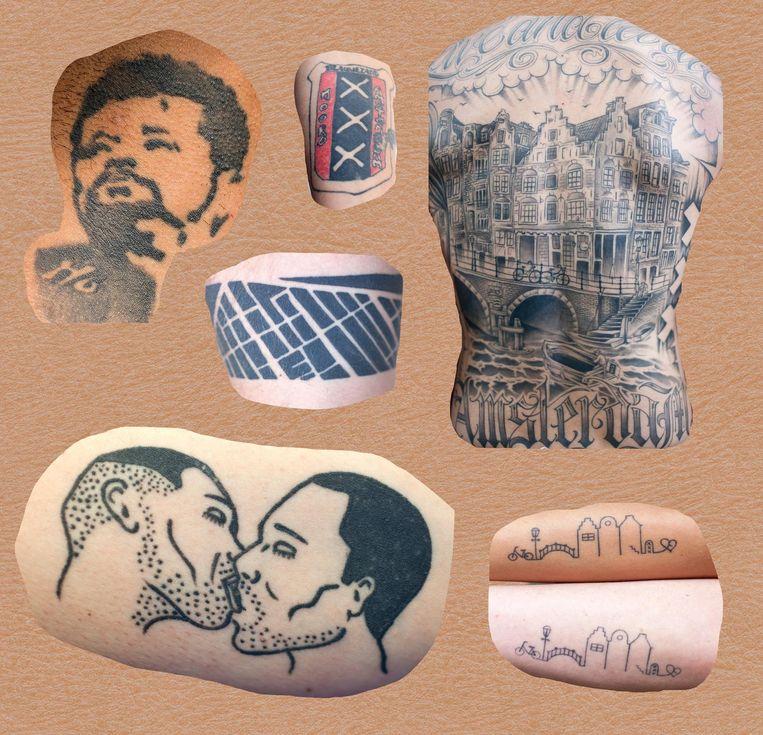 Jan Hoek, Zippora Elders en Mick Johan riepen eerder Paroollezers op om een foto van hun tatoeages in te sturen. Beeld Jan Hoek