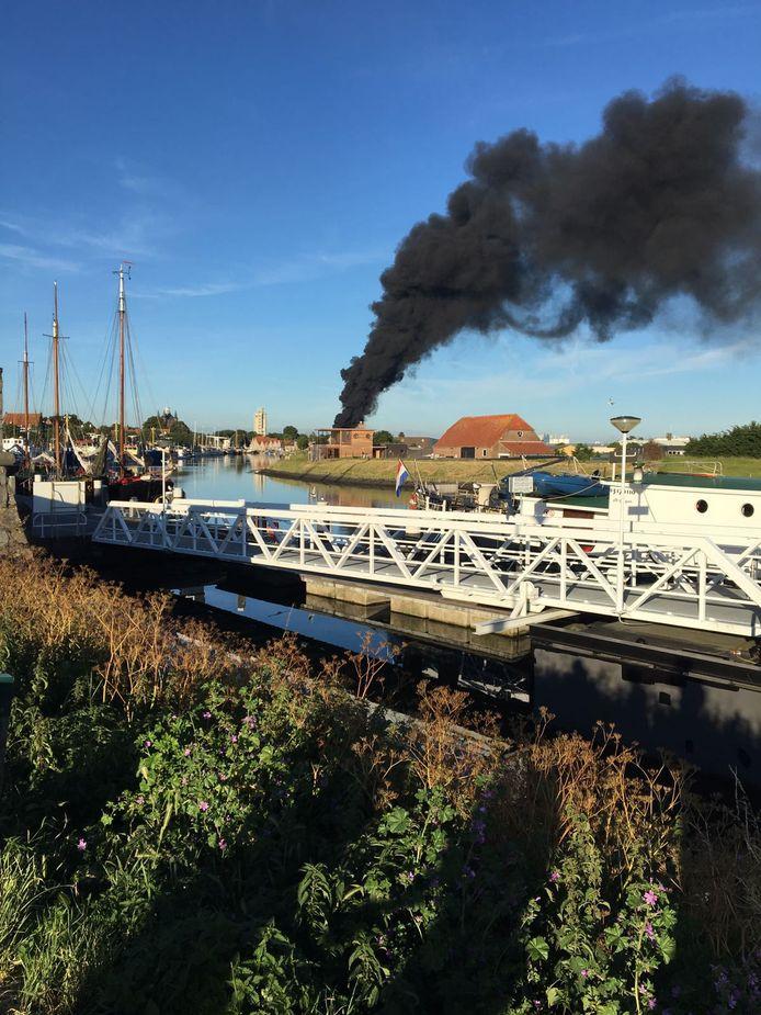 Brand Julianastraat gezien vanaf t Luitje Zierikzee.