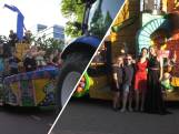 Op een carnavalswagen naar het gala