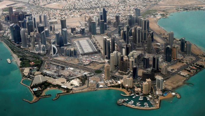 De diplomatieke wijk in Qatar.