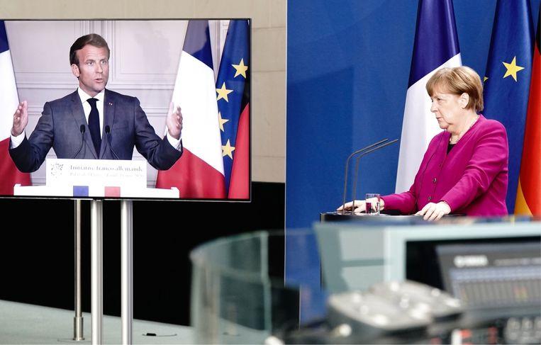 'Europa is aan het scheuren. Sommige regio's kunnen nauwelijks nog mee met de moderne tijd. Daarom is het plan van Merkel en Macron voor Europese steun zo belangrijk.' Beeld