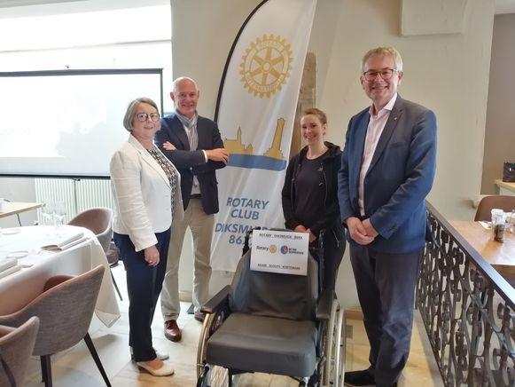 Lydwine Vandamme (Rotary) – Johan Vanmarcke (Rotary) – Melissa Pauwelyn (Akabe) -  Hein Hoet (Rotary).