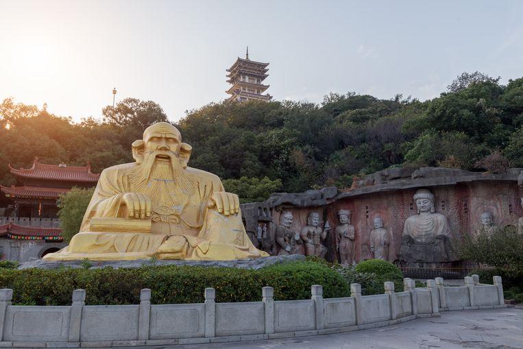 Laozi-standbeeld in Wuxi, China.