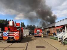 Rookpluimen brand Rijswijk tot in Rotterdam te zien