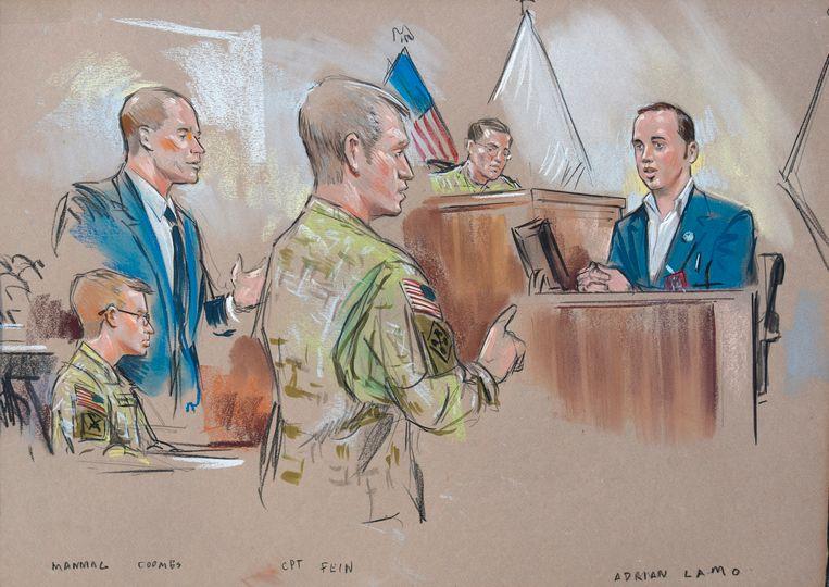 De rechtszaak van Chelsea Manning in 2011.