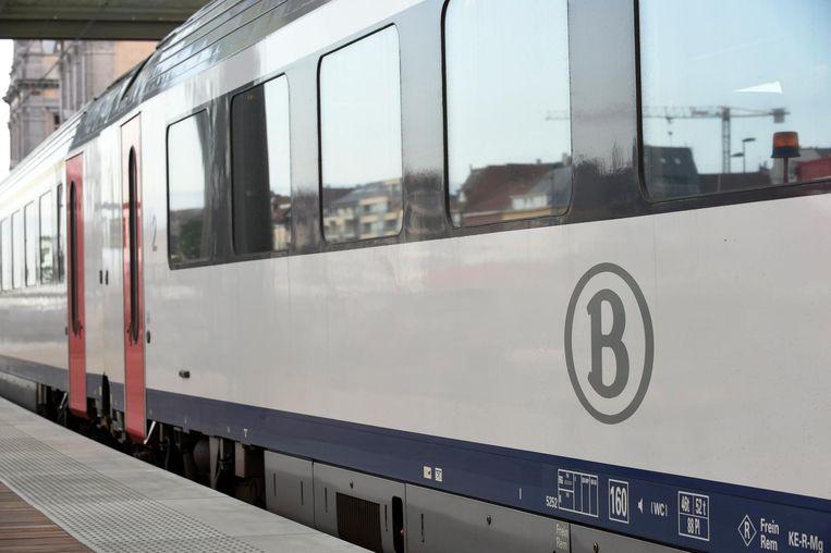 Een trein van de NMBS.