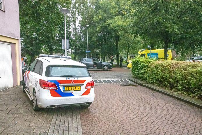 Een man raakte gewond bij een schietpartij aan De Voochtstraat in Zwolle.