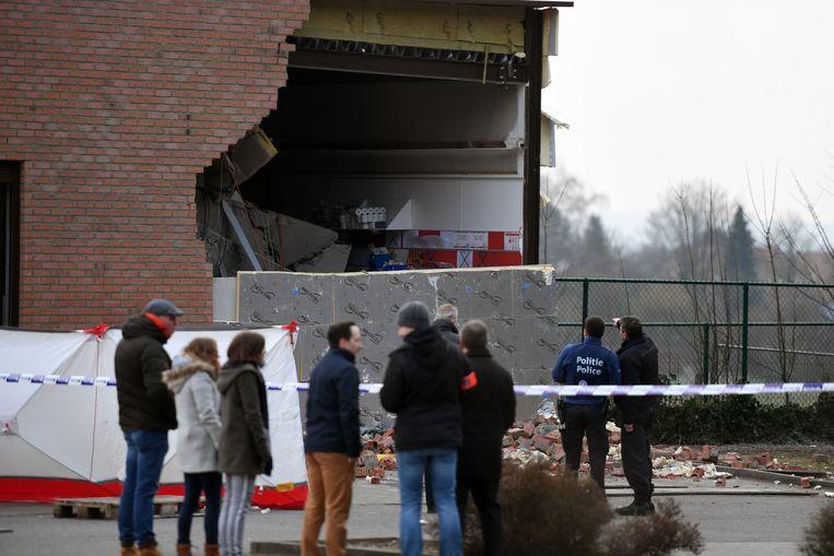 De ramkraak vond plaats op een Aldi-supermarkt in Haasrode.