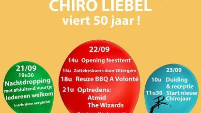 Chiro Liebel is gemiddeld 50 jaar oud