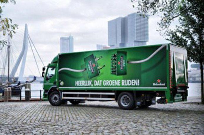 Heineken is een van de bedrijven die gebruik maakt van elektrische vrachtwagens.