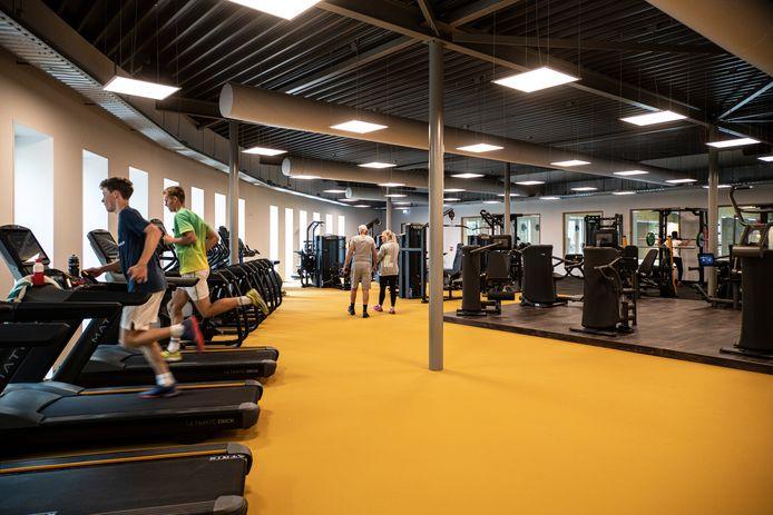 De fitnessruimte in het Sportcentrum Malden.