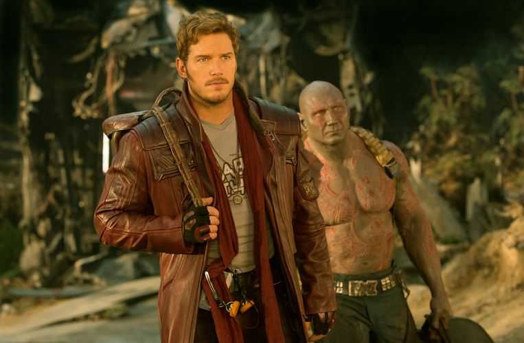 Star-Lord/Peter Quill (Chris Pratt) and Drax (Dave Bautista).