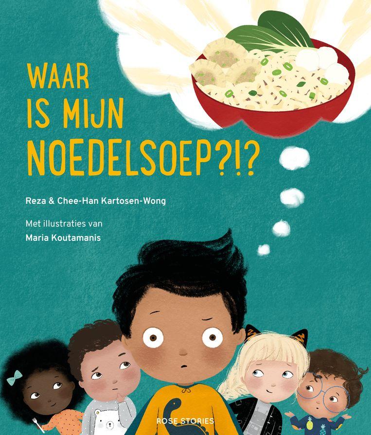 'Waar is mijn noedelsoep?!?', kinderboek van Reza en Chee-Han Kartosen-Wong. Beeld
