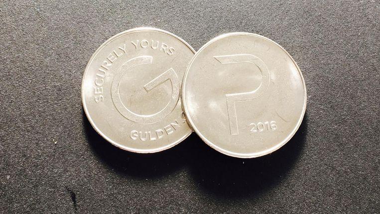 Het visitekaartje van de digitale munt: de Gulden. Beeld .