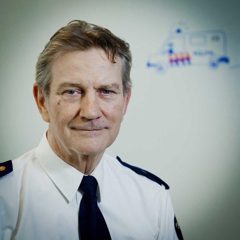 Gerard Bouman, korpschef van de Nationale politie: 'Iedereen schrok zich het leplazarus.' Beeld ANP