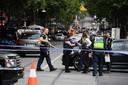 De straten rond het incident werden vrijdag een tijdlang afgezet.