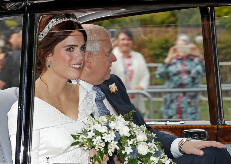 Prinses Eugenie met haar vader prins Andrew.