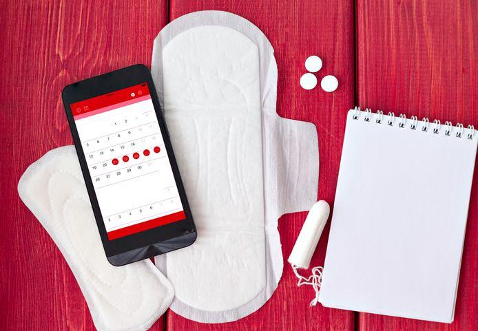De apps maken het voor vrouwen mogelijk om hun menstruatiecyclus op te volgen.