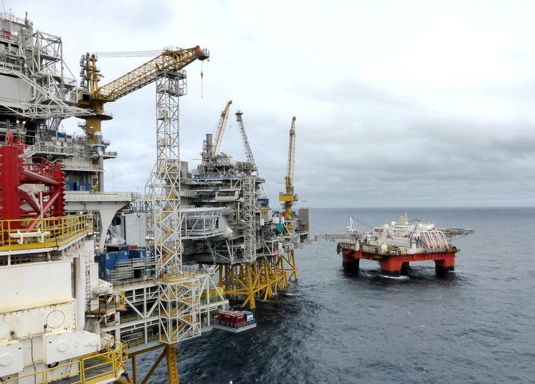 Een olieplatform van het Noorse Equinor in de Noordzee. Beeld REUTERS