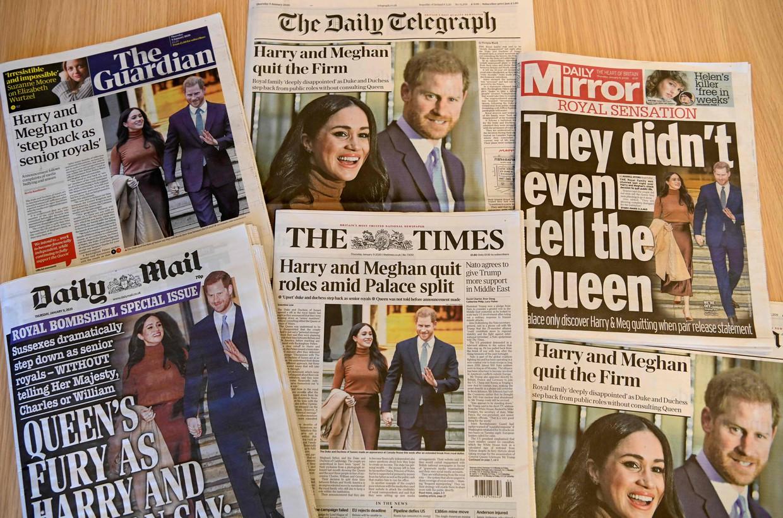 Een selectie van Britse kranten