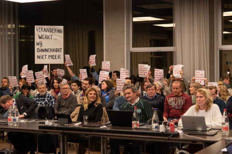 Een erg woelige gemeenteraad maandagavond.